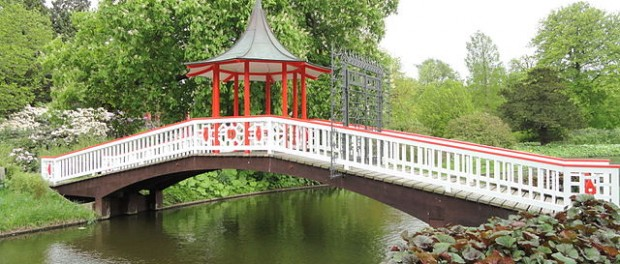 """Chinese bridge - Frederiksberg Have - Copenhagen - DSC09212"" by Daderot - Daderot. Licensed under Creative Commons Zero, Public Domain Dedication via Wikimedia Commons -"